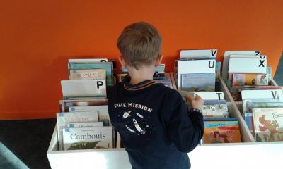 Visite à la bibliothèque